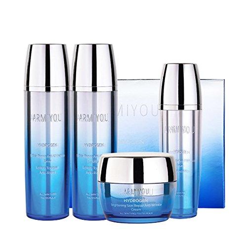 Armiyou-K-BEAUTY-Skin-Care-HYDROGEN-Skin-Repair-Face-Moisturizer-Toner-Lotion-Serum-Cream-Set-for-Women-Men-Anti-Wrinkle-Anti-Aging-Rejuvenation-Dry-Sensitive-Eczema-Acne-KOREAN-BEAUTY-Hydration