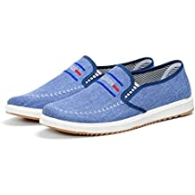 Kebinai Spring New Flat Leisure Pedal Men's Shoes Low to Help The Shoes Canvas Shoes