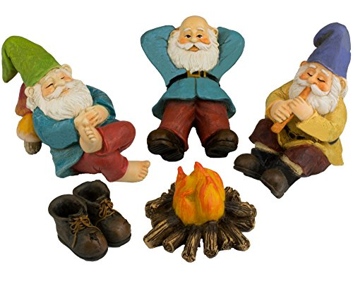 Twig & Flower The Relax by the Campfire (Five Piece) Mini Gnome Set by