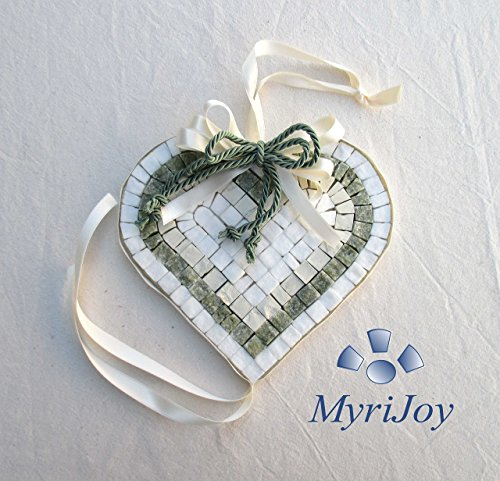 MOSAIC KIT DIY Green Heart - lovely heart shape wall art decoration