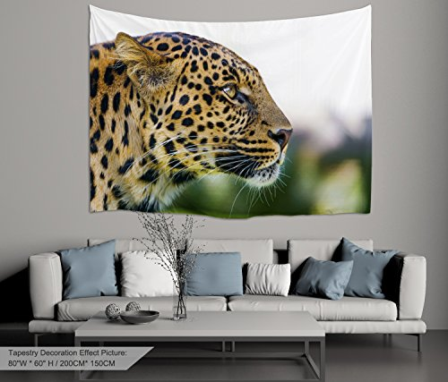 Alfalfa Wall Hanging Decor Nature Art Polyester Fabric Tapestry, For Dorm Room, Bedroom,Living Room - 80'' W x 60'' L (200cmx150cm) - Animal Leopard by ALFALFA