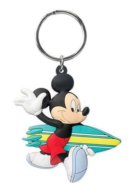 Llavero de PVC, Surfing Mickey - Un tacto suave nuevo ...