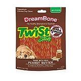 DreamBone Twist Sticks Peanut Butter 50 Sticks