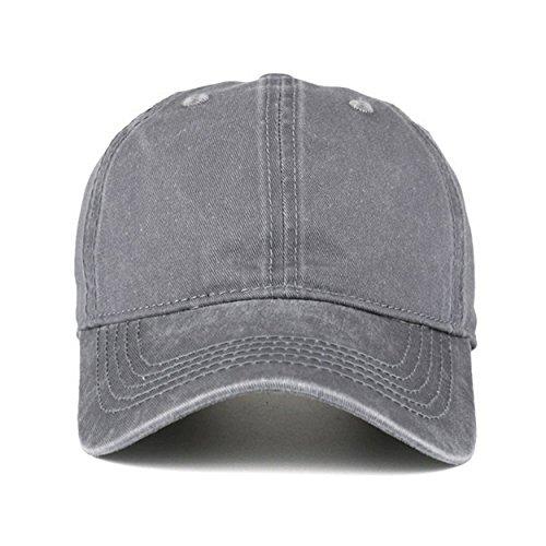 308151c8 VANCIC Low Profile Washed Brushed Twill Cotton Adjustable Baseball Cap Dad  Hat for Men Women (Grey)