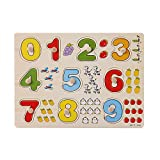 Hisoul Puzzle Jigsaw Toy Baby Kids Wooden Number Lette Puzzle Jigsaw Early Learning Educational Toys...