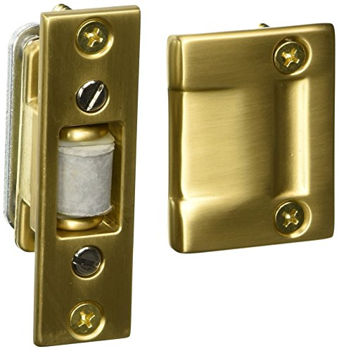 Baldwin 0430033 Roller Latch, Vintage Brass