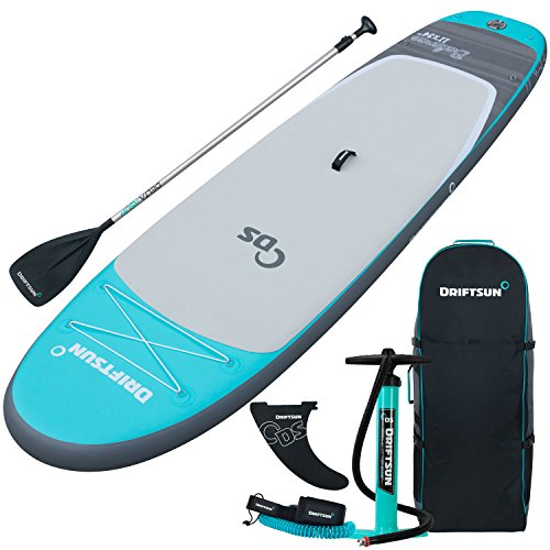 Driftsun 11-Foot Inflatable Stand-Up Extra Wide Balance Paddle-Board,...