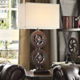 INSPIRE Q Barnard Antique Bronze Metal Gears 1-light Accent Table Lamp