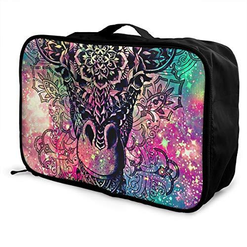 (Travel Luggage Duffle Bag Lightweight Portable Handbag Fantasy Giraffe Print Large Capacity Waterproof Foldable Storage Tote)