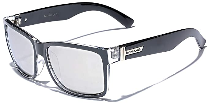 5eac9a62357 Amazon.com  Square Retro 80 s Sunglasses BLACK  Clothing