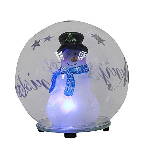 Trim-a-Home 120mm Led Glass Globe- Blue (Blue Snowman Ornament)