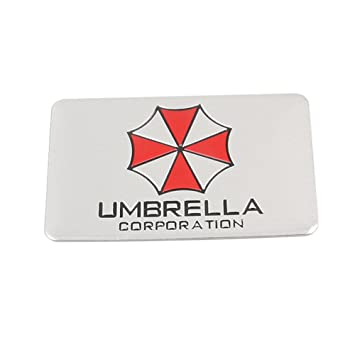 Motocicleta Addict 3d pegatinas aluminio Resident Evil Umbrella Corporation Car Sticker Decals emblema 7 tipos estilo