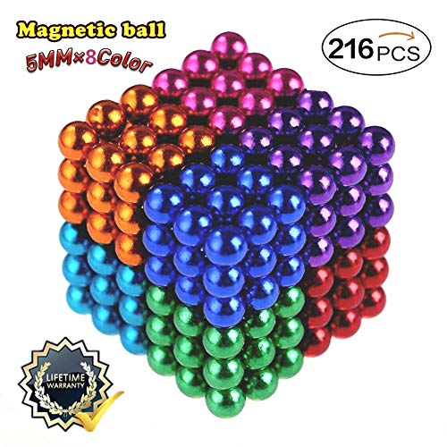 - XIN Multicolored Magnetic Balls Magnets Toys Sculpture Building Magnetic Blocks Magnet Cube Gift for Intellectual Development Office Toy Stress Relief Gift for Teens and Adult 8 Color