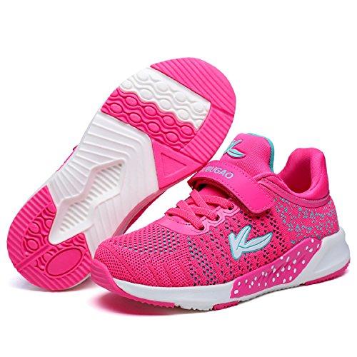 LILY999 Sneaker Kinder Laufschuhe Jungen Madchen Hallenschuhe Turnschuhe Outdoor Leicht Sportschuhe für Unisex-Kinder Rose