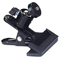 Electomania® Metal Photo Studio Flash Spring Clamp Clip Mount with Ball Head-Black Electronic Equipment, Photo Props, Electronic Accessories
