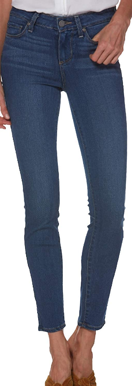 Paige Women's Jean Verdugo Ankle Tristan MID Rise Skinny Jeans 1764521 2225 bluee