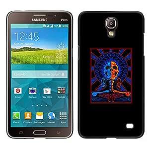 Be-Star Único Patrón Plástico Duro Fundas Cover Cubre Hard Case Cover Para Samsung Galaxy Mega 2 ( Black Red Blue Cops Skull Crossbones )
