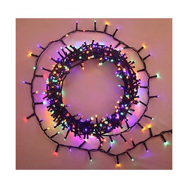 ANSIO Luci natalizie per interni e esterno 1000 LED albero luci Multi Colore, 8 modalità con memoria e funzione timer, alimentate, trasformatore incluso 25m Lunghezza illuminata- CAVO VERDE 3 spesavip