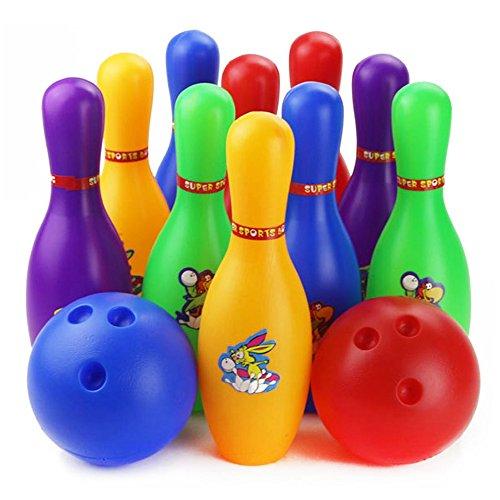 Colorful Cartoon Standard 12 Pcs Bowling Set w/ 10 Pins, ...