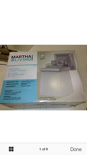 Martha Stewart Living 1 Light Skylands Collection Wall Sconce