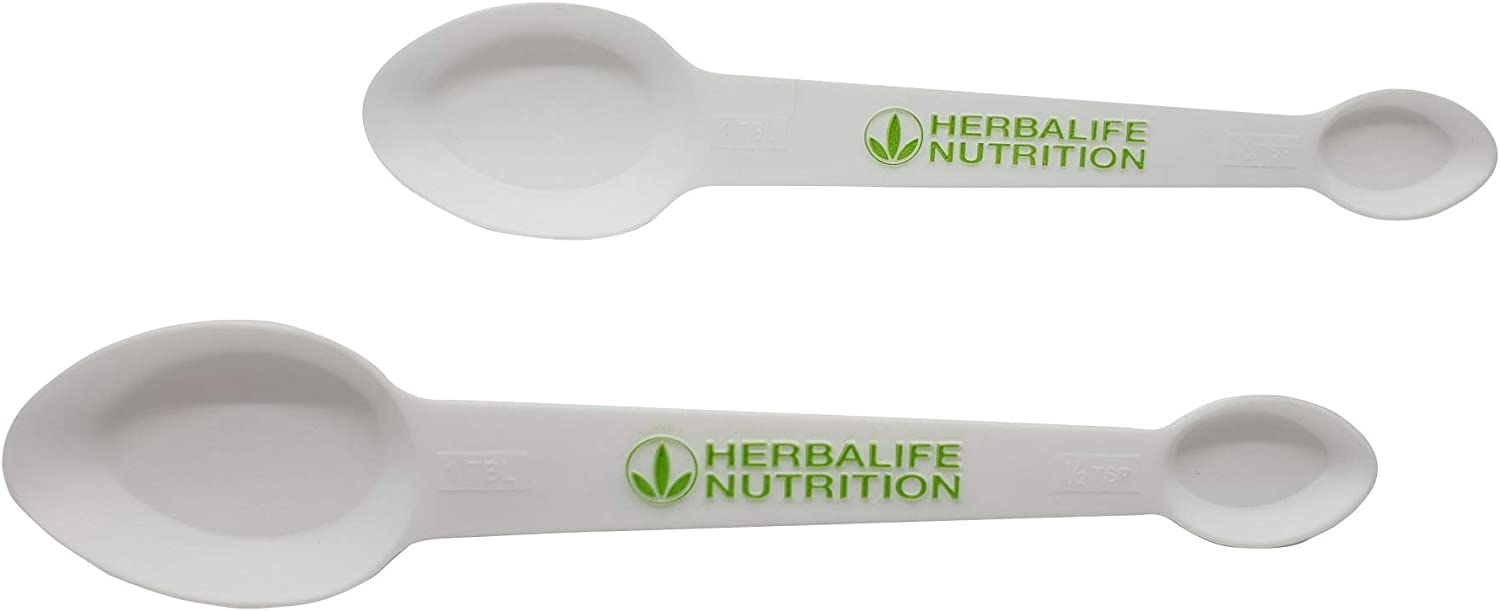 Herbalife Measuring Spoons, Four Sided, useful for Protein Powders (2 Pack)