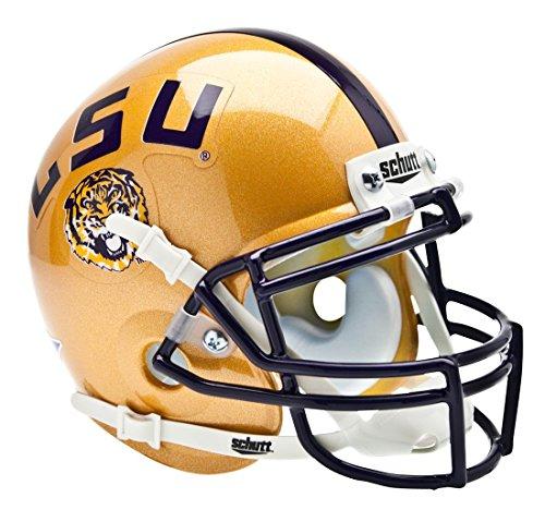 NCAA LSU Tigers Collectible Alt 1 Mini Helmet, Gold