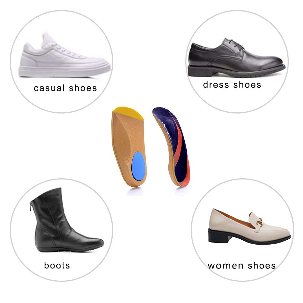 Running,Sport M: Men6.5-8//Women7.5-9 Bone Spur,Arch Support for Men and Women-Walking PCSsole 3//4 Length Comfort Orthotic Inserts for Flat Feet,Plantar Fasciitis