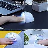 MelodySusie Portable UV LED Nail Lamp, Compact Gel