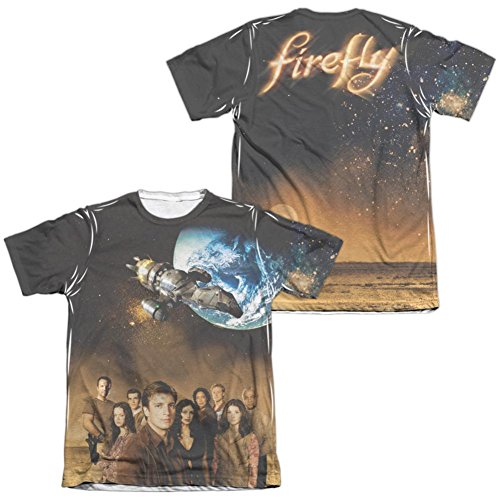 Firefly- Cast Poster (Front/Back) T-Shirt Size XL -