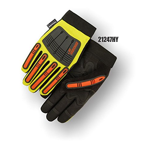 (12 Pair) Majestic THINSULATE LINED ARMORSKIN GLOVES WITH KNUCKLE & FINGER GUARDS - 3X LARGE(21247HY/13)