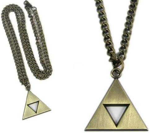 Oliasports Zelda Triforce Gold Necklace