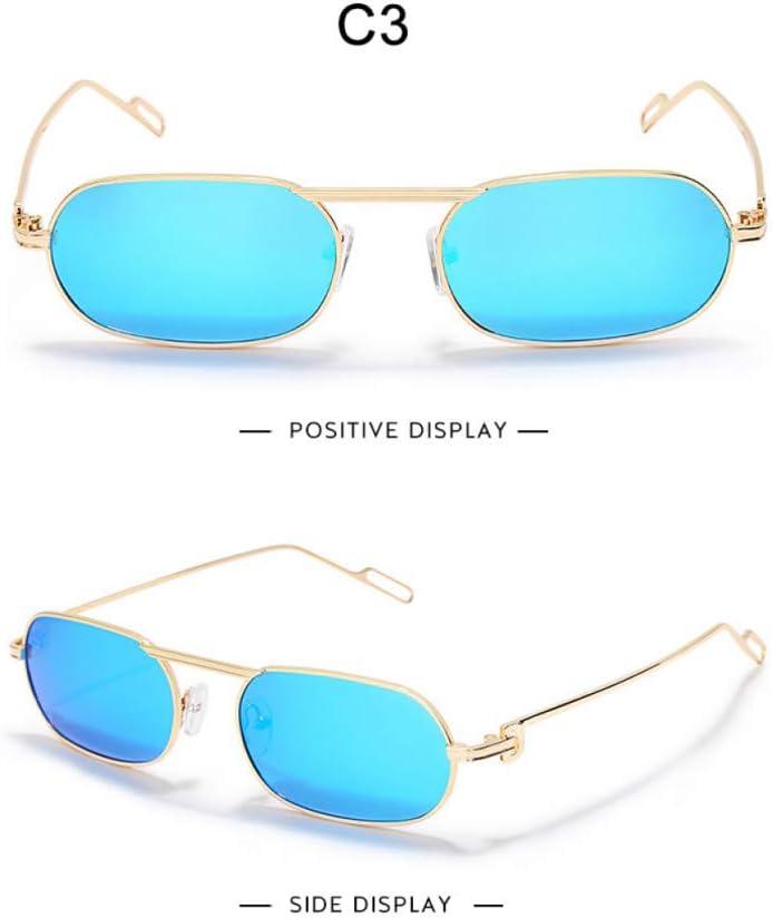 AAWFUL Occhiali da Sole rettangolari polarizzati Uomo Donna Occhiali da Sole Classici avvolgenti in Metallo Occhiali da SoleDonnaOcchialida Sole Quadrati retrò Uv400 3