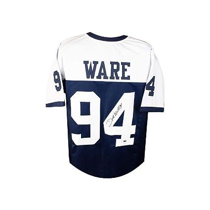 e43867e57 DeMarcus Ware Autographed Dallas Cowboys Custom Thanksgiving Football  Jersey JSA
