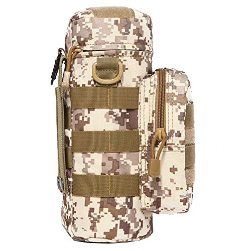 Pouch Desert Camo - ALTBP Military Sport Bike Tactical Molle Water Bottle Pouch Hydration Carrier Holder (Desert)