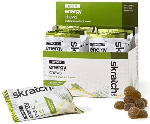 SKRATCH LABS Sport Energy Chews, Matcha Green Tea and Lemon (10 pack) – Natural, Developed for Athletes and Sports Performance, Gluten Free, Dairy Free, Vegan