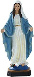 F Fityle Resin Madonna Virgin Mary Statue Figurine Wedding Gift Xmas Decorative, Established Fairy Garden and Family, Weather Resistance and Waterproof.