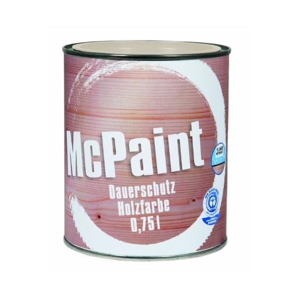 McPaint Wetterschutzfarbe – Holzfarbe für außen auf Acryl Basis mit langanhaltendem Wetterschutz, PU-verstärkt…