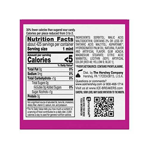 Ice Breakers Sours Berry Mints Tin, Sugar Free,  1.5 oz, 8 - Tin Box Gum