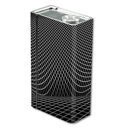 Skin Decal Vinyl Wrap for Smok Xcube 2 BT50 Vape Mod Box / Wire Frame Illusion