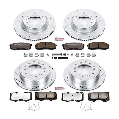 (Power Stop K5874-36 Z36 Truck & Tow Front and Rear Brake Kit)