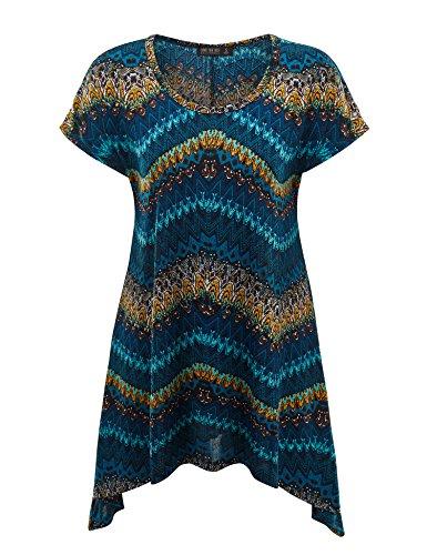 Womens Round Short Sleeve Asymmetrical product image
