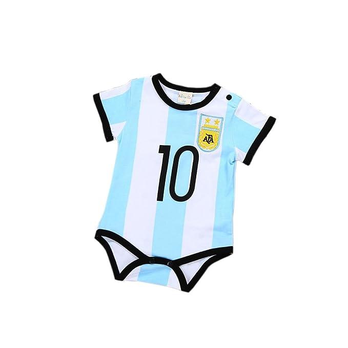 ALLAIBB Mono - para bebé Niño Messi 10(Argentina) 70 cm