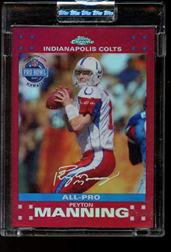 Peyton Manning 2007 Topps Chrome Red Refractors Uncirculated #TC44 Mint /139 Football Colts NFL
