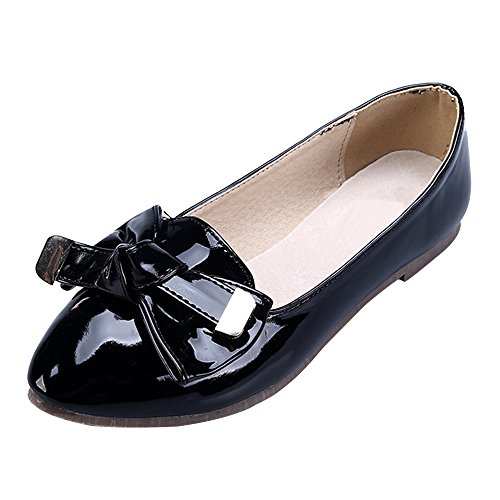 OCHENTA Mujer Boda Zapatos Puntiagudo Moda Mariposa Casual Negro