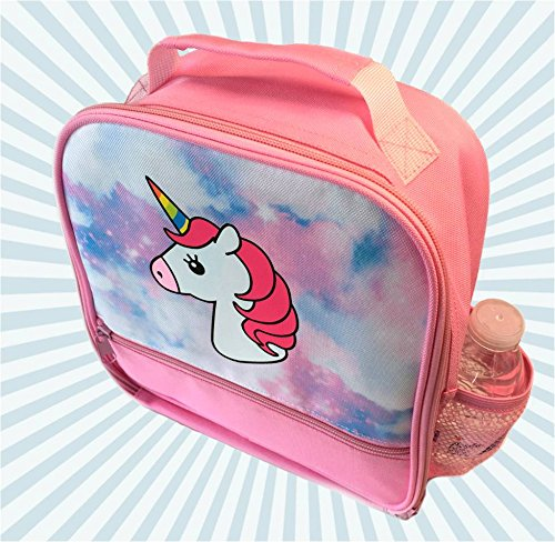 Unicorn Lunch-Box for Girls. Pink Lunch Bag Rainbow Horn. Large School Lunch-Boxes Kids. Cute Tote. Insulated. BPA Free. 4