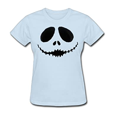 Amazon.com  TAUYOP Women s Skull Face T-Shirts  Clothing 8b67ea3389