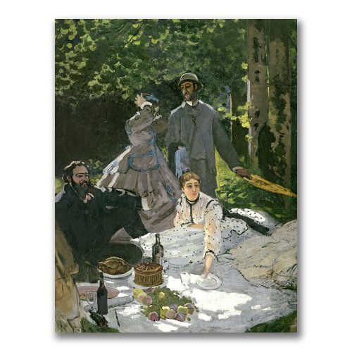 Dejeuner sur l'Herbe, Chailly by Claude Monet Canvas Wall Art