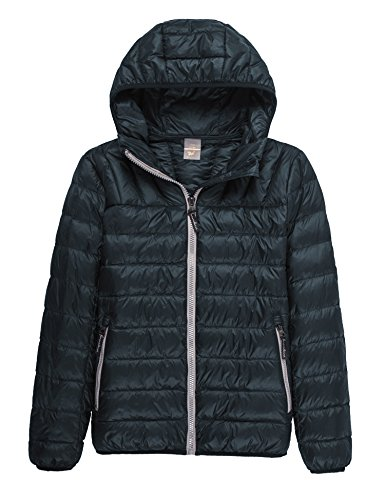CHERRY CHICK Light Weight Puffer Down Filled Hooded Unisex Jacket (S, Unisex Dark Green)
