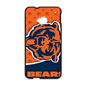 chicago bears Phone Case for HTC M7 Black