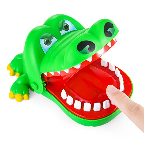 Dinosaur Toy, Parmeic Dinosaur Bite Finger Game Novelty Toy For Kids - 1 to 4 Players - Ages 4 and Up (Alligator Bite)